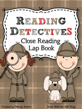 http://www.teacherspayteachers.com/Product/Reading-Detectives-Close-Reading-Lap-Book-951050