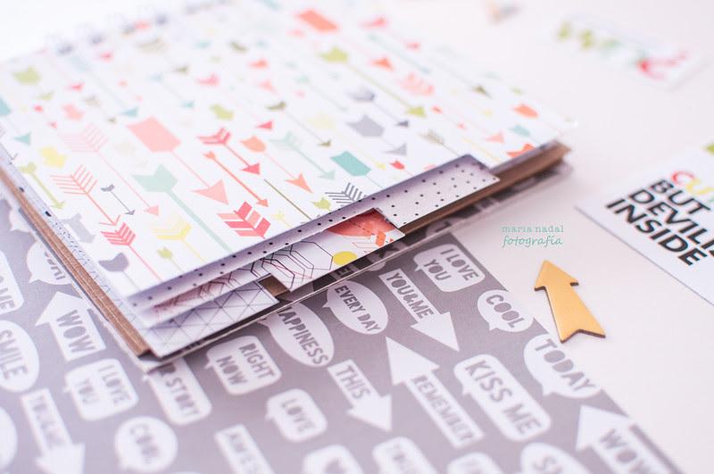 Libreta con papeles Scrap