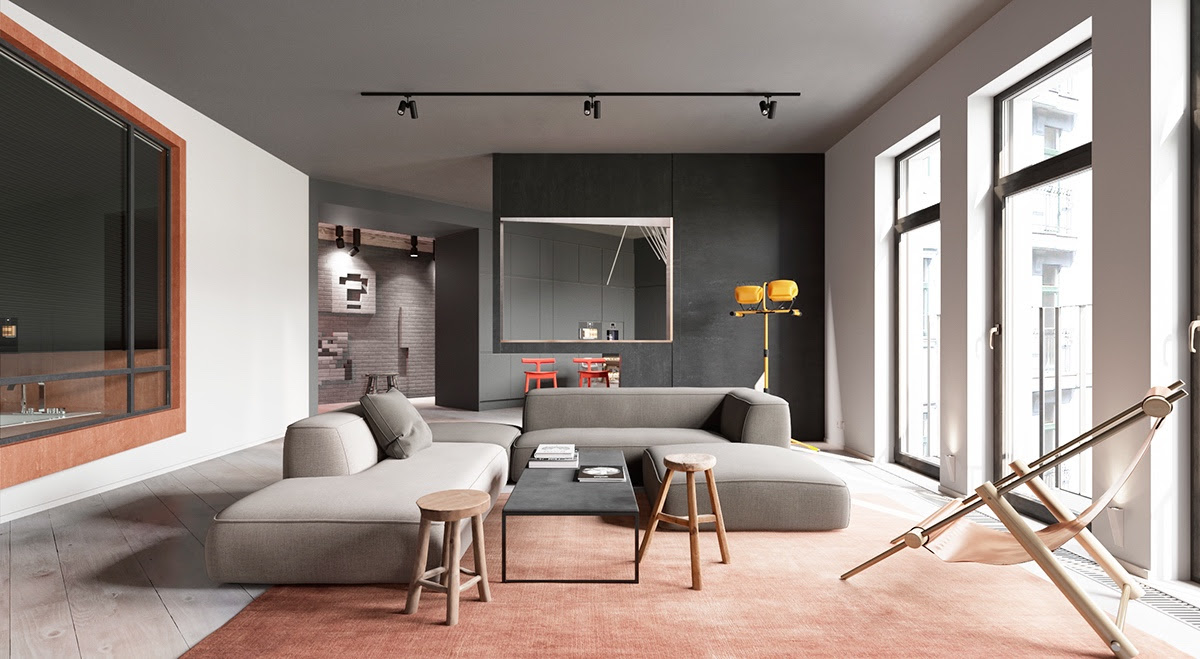 A Sleek Apartment Interior Design With Modern and Unique ...