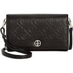 Giani Bernini Logo Embossed Travel-Ready 28 Inch Long Detachable Crossbody Wallet, Black