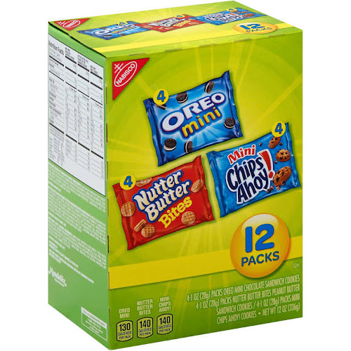 Nabisco Bite-size Cookie Variety Pack - 12 count, 1 oz packets