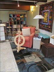Studio chair and rugs