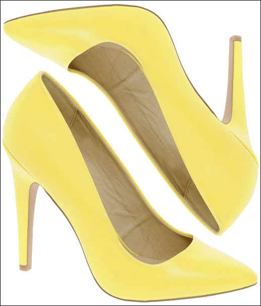 BANANA YELLOW POINTY TOE CLASSIC PUMP HEEL SPRING SUMMER AFFORDABLE CHEAP ASOS 2012 2