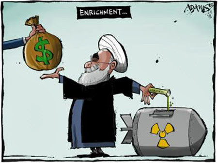http://iranpoliticsclub.net/cartoons/obama-iran2/images/Rouhani%20Dollars%20Enrichment%20Iran%20Nuclear%20Deal%20Cartoon.jpg