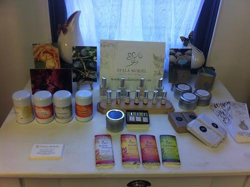 Ayala Moriel Parfums display @ Giving Gifts & Co. by Ayala Moriel