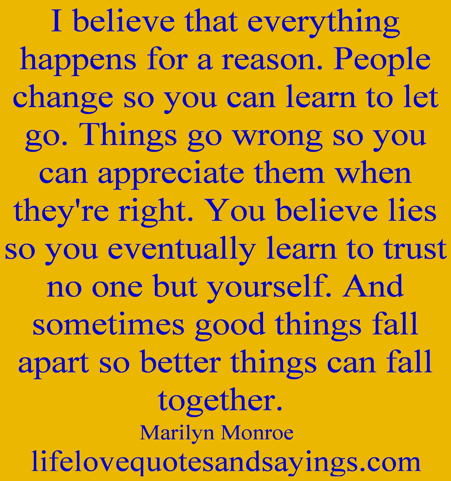 Marilynmonroe New Marilyn Monroe Quotes Everything Happens For A Reason
