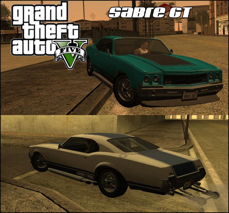 Gta San Andreas Gta V Declasse Sabre Gt Mod Gtainside Com