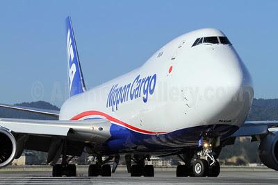 NCA-Nippon Cargo Airlines Boeing 747-8KZF JA12KZ (msn 36137) SFO (Mark Durbin). Image: 911884.