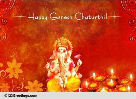 Warm Greetings On Ganesh Chaturthi! Free Ganesh Chaturthi
