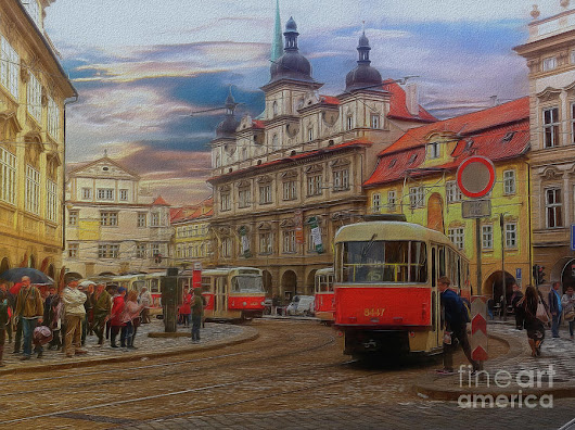 Prague, Old Town, Street Scene by Leigh Kemp
