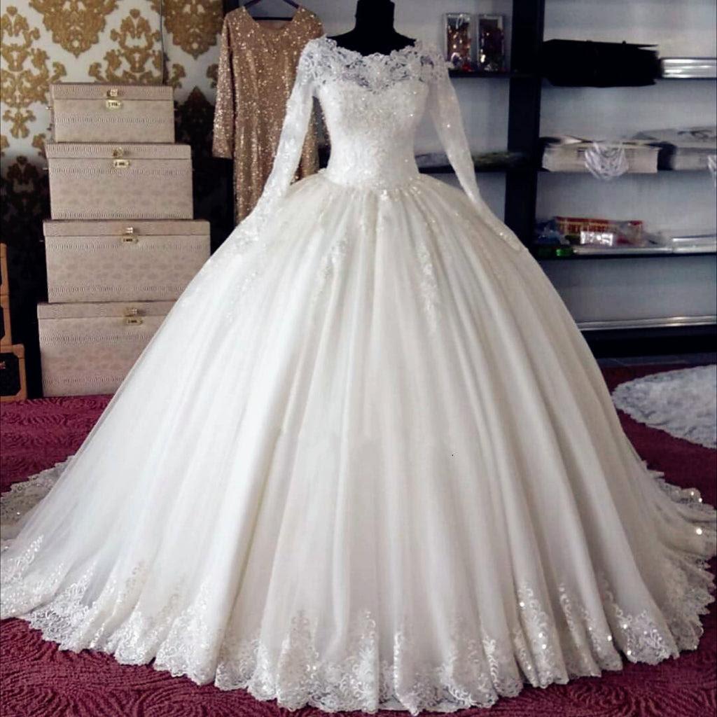 Long Sleeve Wedding Dresses Ball Gown Wedding Galery
