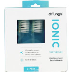 DrTung's Ionic Toothbrush Replacement Brush Heads 2 Pack