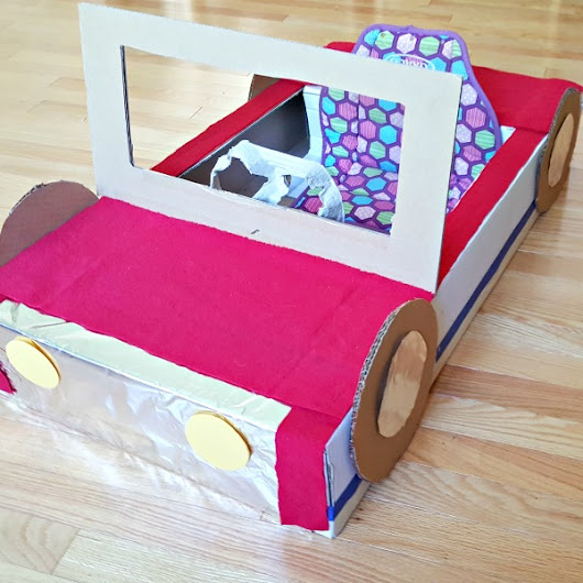 Easy Cardboard Box Car for Toddlers and Preschoolers