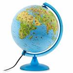 Waypoint Safari Explorer Animals Globe, 10-inch , Illustrated, Illuminated, Blue