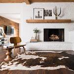 """Alexander Home Faux Cowhide Brown/ Beige Area Rug - 5' x 6'6"""""""