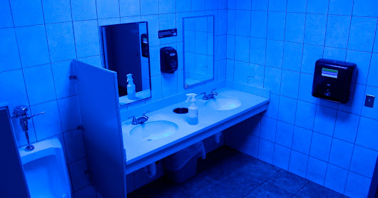 Stores install blue lights in restrooms to deter drug use