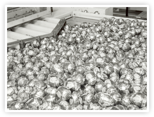 Creme Egg on the production line