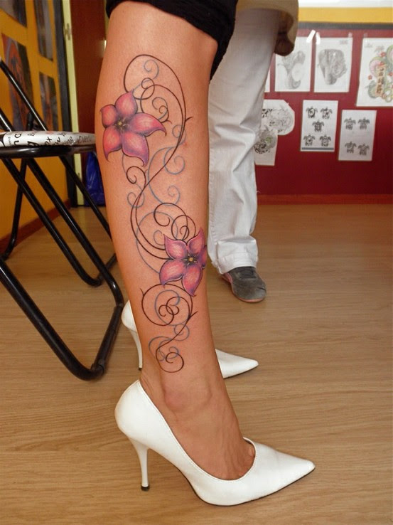 100s Of Hawaiian Flower Tattoo Design Ideas Pictures Gallery