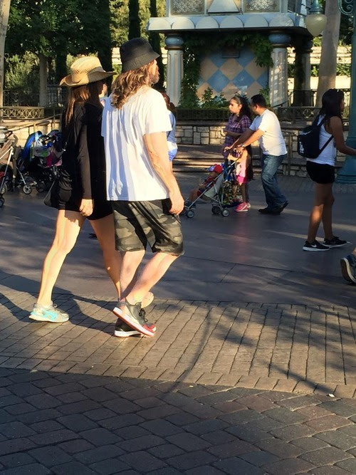 Christian Bale And Family At Disneyland (August 28th, 2015) -
