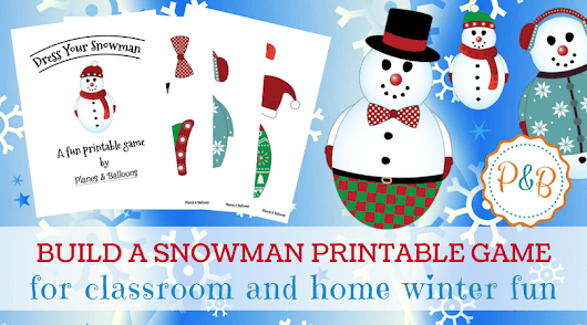 Winter Activities for Preschoolers: A Fun Snowman Dress-Up Game