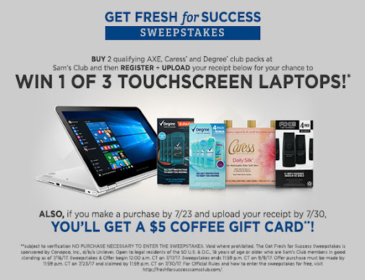 Get Fresh for Success with the Sams Club Sweepstakes