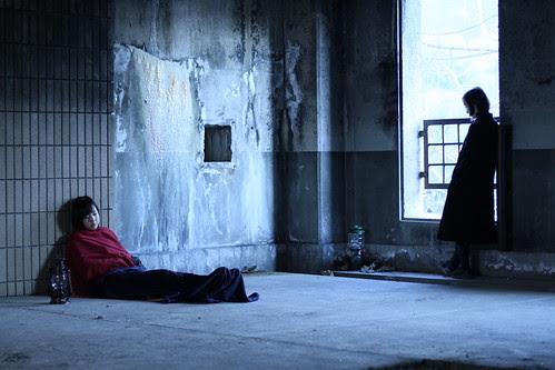 [Exhalation] Sayuri (Tomoe Shinohara) contemplates as Naoko (Kiki Sugino) is asleep
