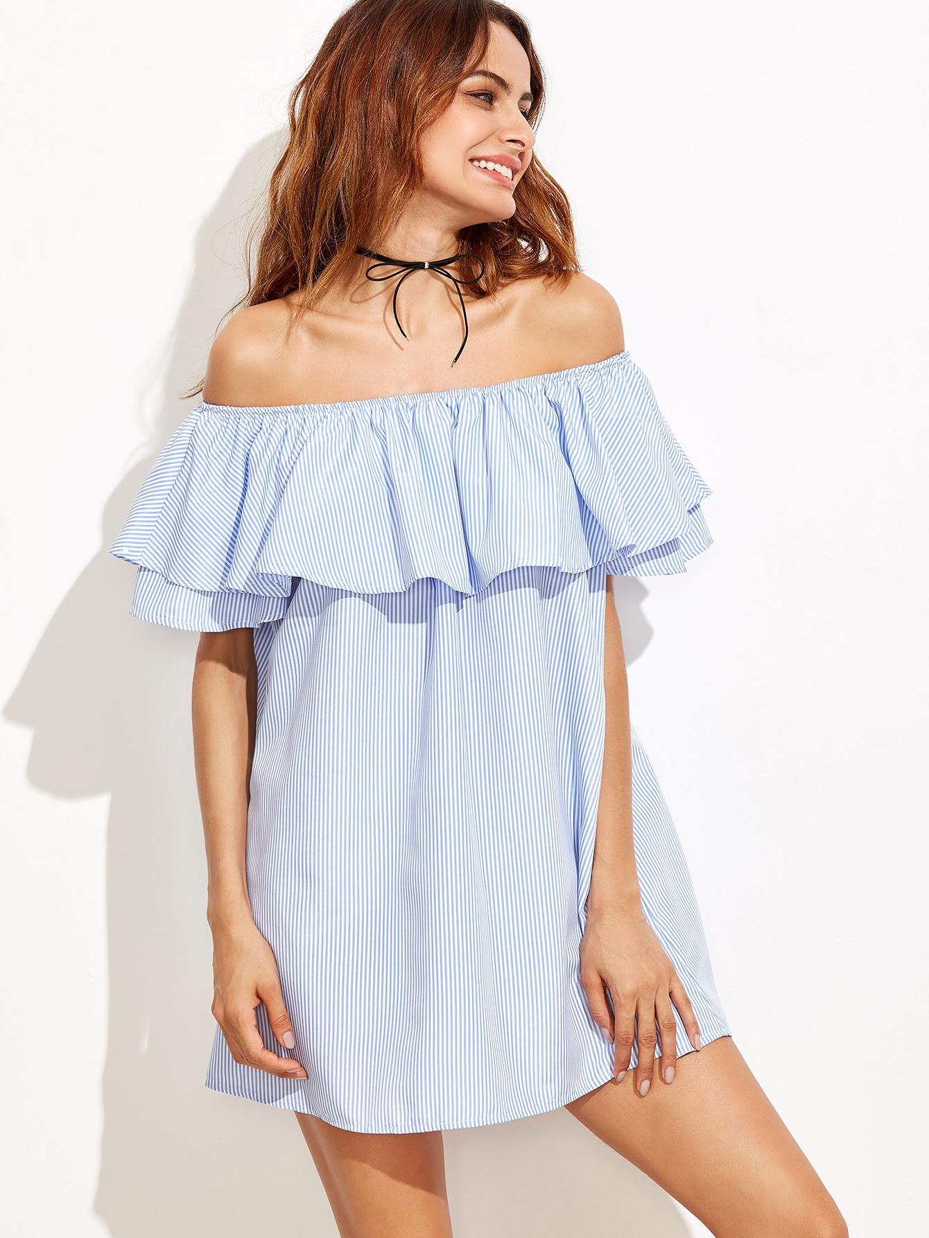 http://www.shein.com/Blue-Striped-Off-The-Shoulder-Ruffle-Dress-p-312001-cat-1727.html?aff_id=8630