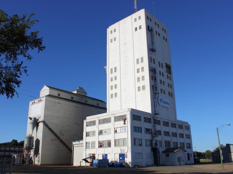 The Viterra mustard elevator in Moose Jaw, Saskatchewan
