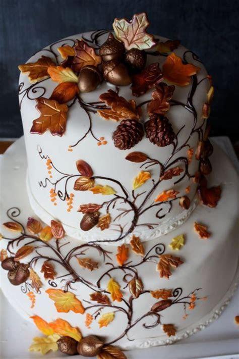 Top 25  best Fall wedding cakes ideas on Pinterest