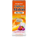 Children's Motrin Oral Suspension Dye-Free, Original Berry - 4 fl oz bottle