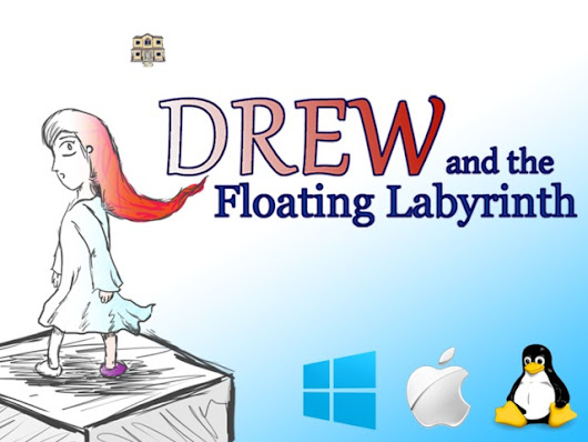 Drew and the Floating Labyrinth - A Hand-Drawn 3D Indie Game