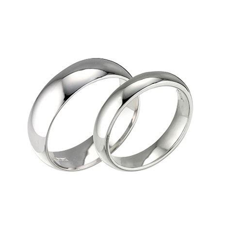 His & Hers 18ct white Gold Wedding Rings 2mm 5mm D
