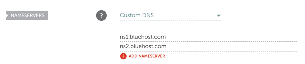 Create a Website Name Servers