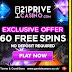 21 Prive Casino: 60 Free Spins No Deposit