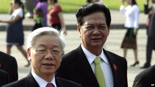 Ông Nguyễn Phú Trọng và ông Nguyễn Tấn Dũng được coi là hai ứng viên hàng đầu cho vị trí Tổng bí thư Đảng Cộng sản Việt Nam.