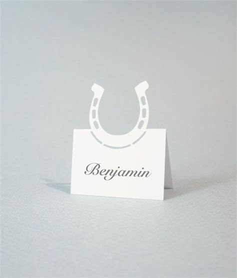 Wedding Place Cards Western Themed Place Cards by