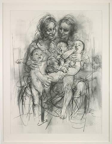 Jenny Saville, Reproduction drawing IV (after the Leonardo cartoon)