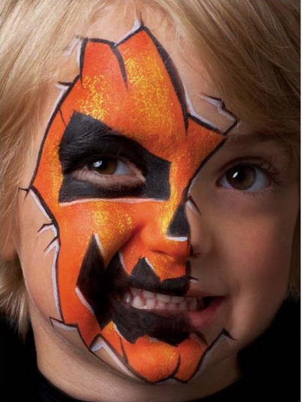 30 Cool Face Painting Ideas For Kids  Hative - Cool Halloween Face Paint