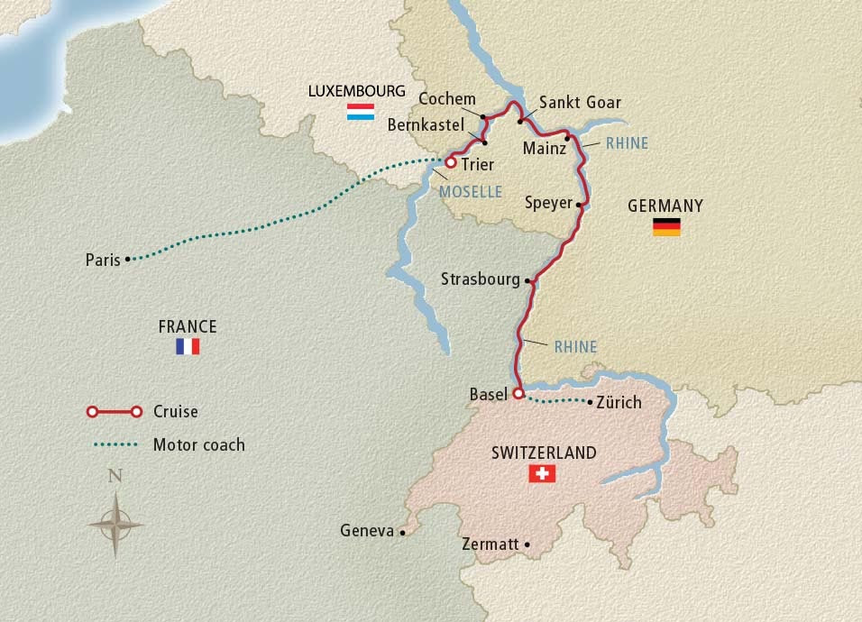 12 Day Viking River Cruise From Paris To Zurich 2018