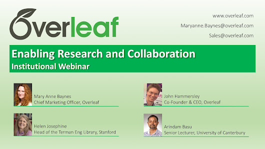 Check it, check it out! Overleaf Webinar Recording – Enabling Research and Co... - Overleaf Blog