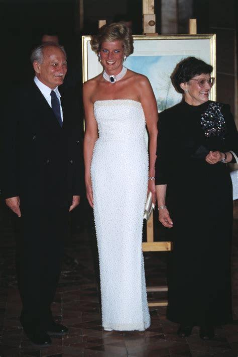 Diana, Princess of Wales. Catherine Walker pearl encrusted