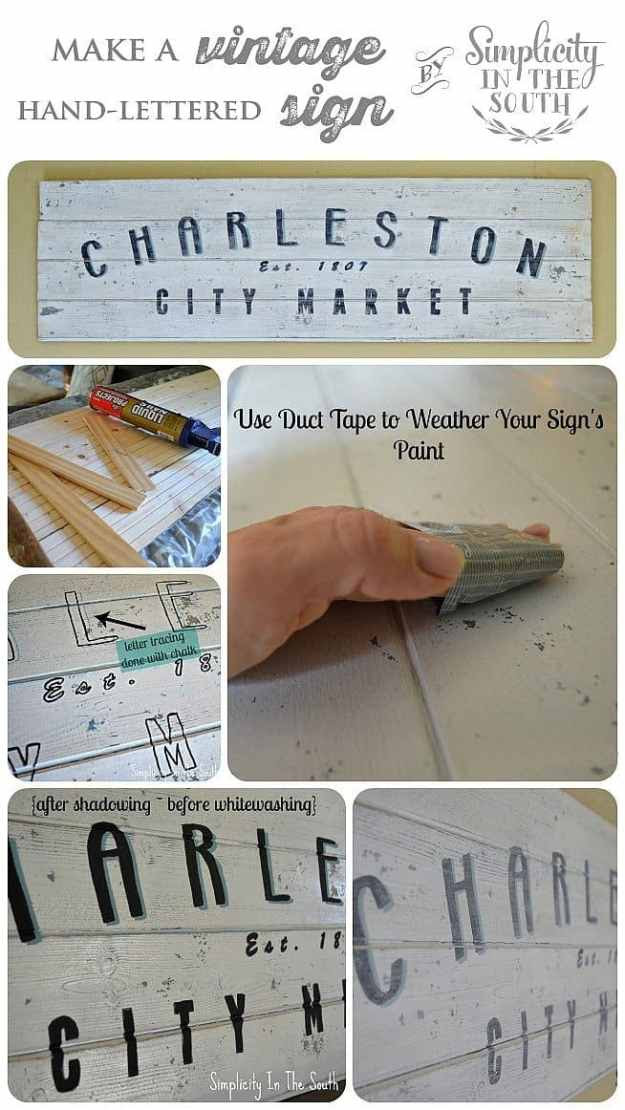 How to make a vintage-inspired hand lettered wooden sign. Download the free template for the lettering in the post.