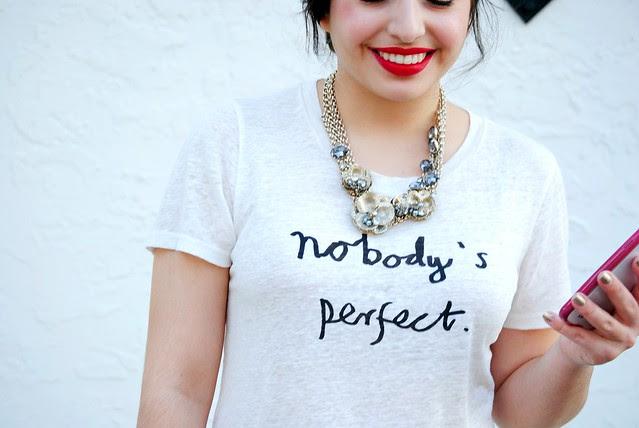 Nobody's Perfect linen tee