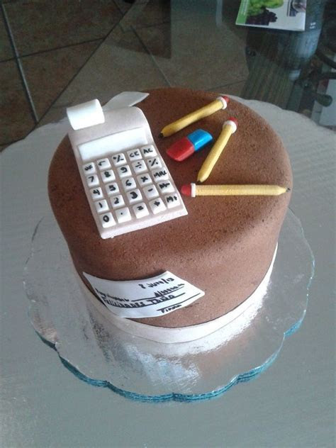Cake for my accountant   cakes   Cake, Fondant cakes