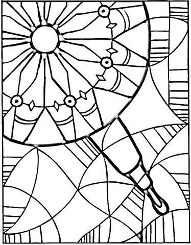 view  kaleidoscope coloring page  printable