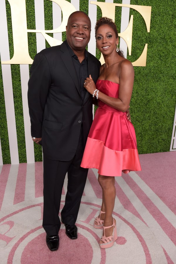 LOS ANGELES, CA - JUNE 24:  Sportscaster Rodney Peete (L) and actress Holly Robinson Peete attend the 2015 BET Awards Debra Lee Pre-Dinner at Sunset Tower Hotel on June 24, 2015 in Los Angeles, California.  (Photo by Jason Kempin/BET/Getty Images for BET)