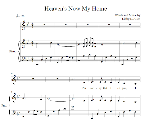 Heaven Is Now My Home Lyrics Libby Allen