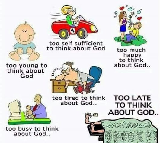 Take time…to think about God.