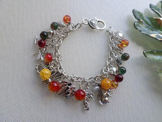 Autumn Harvest Celebration Charm Bracelet
