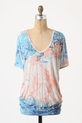 Anthropologie Painted V-Neck Shirt